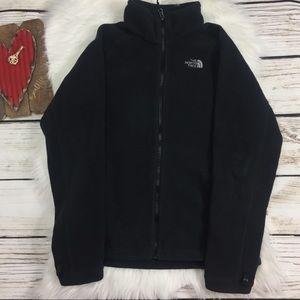 Black North Face Full Zip Sweater